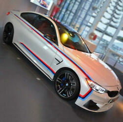 Graphics M Performance Car Sticker Waist Line Stripe Side Skirt Decal Fit BMW