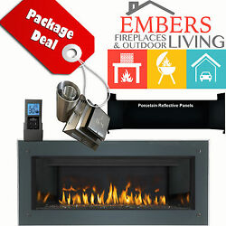 NAPOLEON LHD45 VECTOR MODERN LINEAR GAS FIREPLACE SURROUND VENT KIT REFLECTIVE