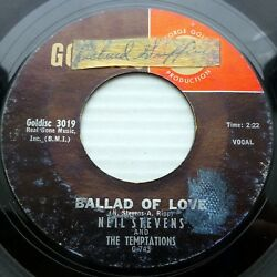 NEIL STEVENS & TEMPTATIONS vg 45 Ballad Of Love Tonight My Heart She's Crying d2
