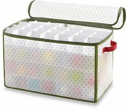Christmas Holiday Ornament Storage Box Organizer Real Simple 112-Count