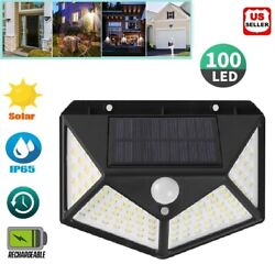 20 LED Solar Power PIR Motion Sensor Wall Light Outdoor Waterproof Garden Lamp $9.98