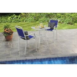 Small Bistro Set Table Chairs Bar Height High Top Patio Outdoor Deck Pool Dining