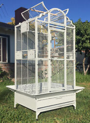 63quot; Large Elegant Wrought Iron Dome Play Top Parrot Macaw Cockatoo Bird Cage $199.40
