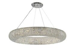 Crystal Halo Chandelier Modern Contemporary Lighting Floating Orb 59? Wide $3066.86