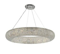 Crystal Halo Chandelier Modern Contemporary Lighting Floating Orb 41? Wide $1849.39