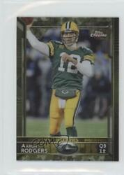 2015 Topps Chrome Mini STS Camo Refractor 99 Aaron Rodgers #2 $6.29