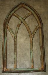 Wooden Antique Style Church WINDOW Frame Primitive Wood Gothic 30 12