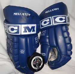 Florida Panthers SCOTT MELLANBY Game Used Worn Signed Hockey NHL Gloves
