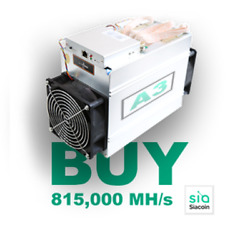 Spares Bitmain Antminer A3 READY to ship from USA (speced at 815GHs Blake2B)