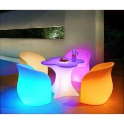 Sunjoy 5 Pieces LED Bistro Sets Patio Deck Porch Outdoor Lighted Dining Set New