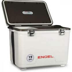 Engel 19 Quart Fishing Live Bait Dry Box Ice Cooler with Shoulder Strap White $67.99