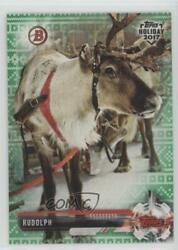 2017 Topps Holiday Bowman Green Sweater 99 Rudolph the Red-Nosed Reindeer #TH-R $3.38