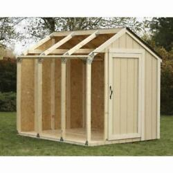 Hopkins Outdoor Storage Shed Kit With Galvanized Steel Brackets Peak Roof Design