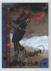 2013 Fleer Marvel Retro Autographs #34 Red She-Hulk Auto Non-Sports Card 1md
