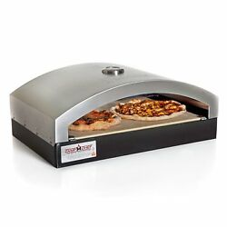 Portable Ceramic Stone Pizza Oven Outdoor Patio Camp Pie Baking 16in Heat Plate