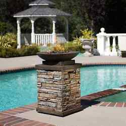 Patio Fire Pit Table Outdoor Gas Fireplace Bowl Propane Heater LP Deck Furniture