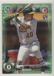 2017 Topps Holiday Bowman Green Sweater 99 Ryon Healy #TH-RHE Rookie $3.42