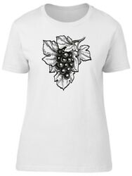 Black And White Grapes Sketch Women's Tee -Image by Shutterstock