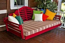 Wood Porch Swing Bed 75