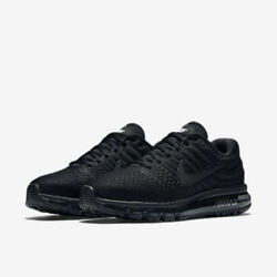 Nike Air Max 2017 Size 8-15 Men's Running Shoes Triple Black 849559-004 $199.99