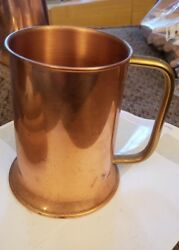 Vintage Coppercraft Guild Beer Stein Mug with Brass Handle (E3)