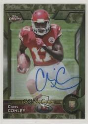 2015 Topps Chrome Rookies STS Camo Refractor 99 Chris Conley #159 Rookie Auto $23.25