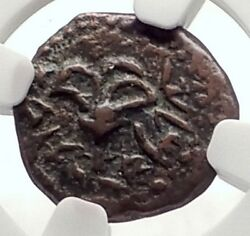 ALEXANDER JANNAEUS Biblical Jerusalem Widow's Mite Greek Bible Coin NGC i70925