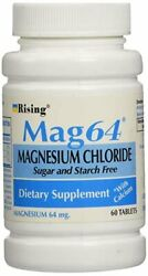 Mag64 Magnesium Chloride with Calcium Sugar and starch Free 60ct 4 Pack $23.22