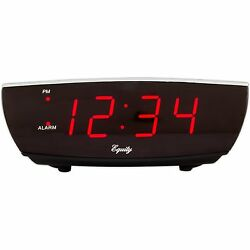 75900 Equity by La Crosse Red LED Digital Alarm Clock with USB Charging Port $11.95