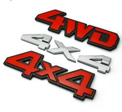 Alloy 4X4 4WD Car Sticker Badge Off-road Rear Decal For JEEP Wrangler Compass
