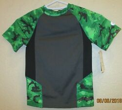 C9 Champion Boys#x27; novelty compression shirt athletic green blue grey print XS4 5 $6.23