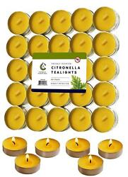 Tea Lights Set Of 60 Highly Scented Citronella Deet Free Natural Insect Mosquito