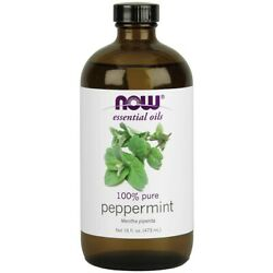 NOW Foods Peppermint Oil 16 fl. oz FREE SHIPPING. MADE IN USA $44.49