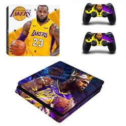PS4 Slim Console Controllers Skin Lebron James NBA LA Lakers Vinyl Decal Sticker
