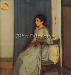 FERNAND KHNOPFF MARIE MONNOM ARTIST PAINTING REPRODUCTION HANDMADE OIL CANVAS