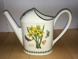 PORTMEIRION BOTANIC GARDEN WATERING CAN OLD MARK NARCISSUS CYCLAMEN PINK YELLOW