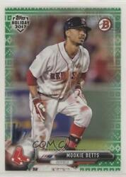 2017 Topps Holiday Bowman Green Sweater 99 Mookie Betts #TH-MB $6.87