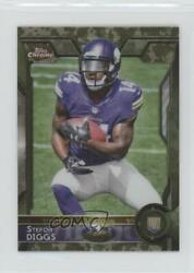 2015 Topps Chrome Mini Rookies STS Camo Refractor 99 Stefon Diggs #148 Rookie $12.04