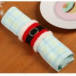 4Pcs Christmas Napkin Rings Napkin Holder Party Banquet Dinner Table Decor SL