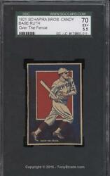 1921 Schapirpa Bros. Candy Babe Ruth Over Fence Ultra Rare Cool SGC 70