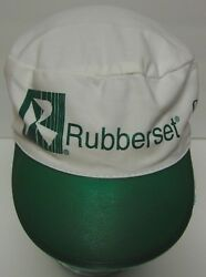 MENARDS Home Improvement Advertising RUBBERSET White Green Painters Cap Hat $11.99