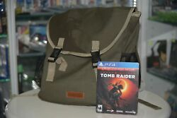 PS4 Shadow of the Tomb Raider (US Limited Steelbook) + Collector's Back Pack