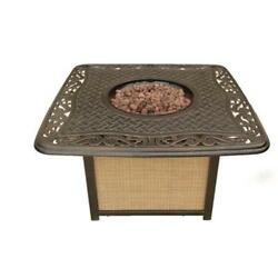 Cambridge Artisan Cast-Top Gas Fire Pit Firepit Heater Table Outdoor Patio Deck