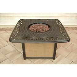 Cast Top Fire Pit Table Firepit Decorative Outdoor Patio Heater Backyard Deck