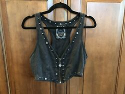 Guess Black Cotton Vest Size Small With Varied Brass Accents. $10.00