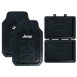 Jeep All Weather Pro Heavy Duty Rubber Floor Mats 4pc Set New $44.95
