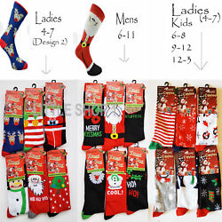 36 12 Socks Mens Ladies Christmas Socks Novelty Kids Stocking Filler Xmas Gift GBP 3.89