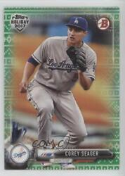 2017 Topps Holiday Bowman Green Sweater 99 Corey Seager #TH-CSE $5.95