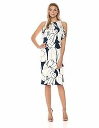 Ivanka Trump Women's Midi Printed Floral Scuba She - Choose SZcolor