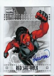 2014 Marvel Now autograph auto card 80A Red She-Hulk Carlo Pagulayan